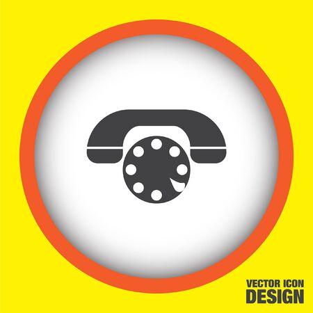 phone vector: phone vector icon Illustration