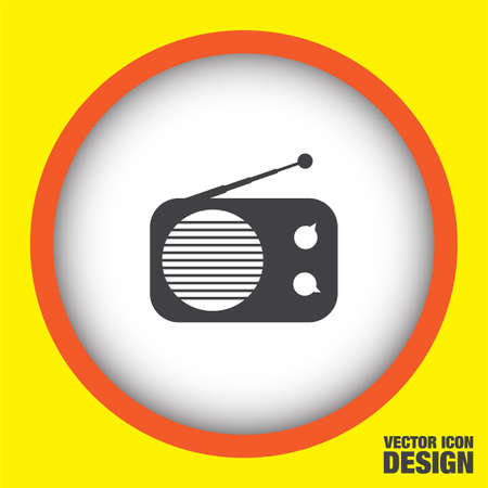 retro radio: radio vector icon