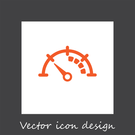 indicator panel: speedometer vector icon