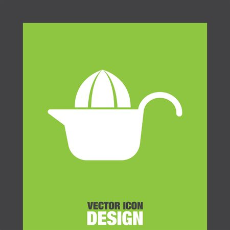 juicer: citrus squeezer vector icon