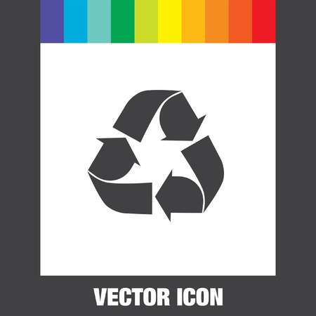 reciclar: icono de vector reciclar