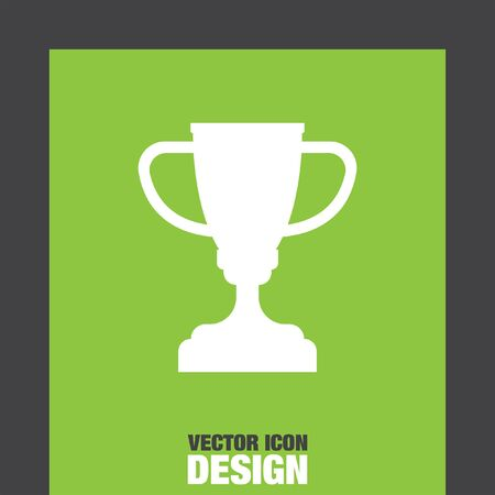 trofeo: campeones del trofeo icono de la taza vector Vectores
