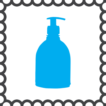 chemical cleaning: household detergent cleaning bottle vector icon Illustration