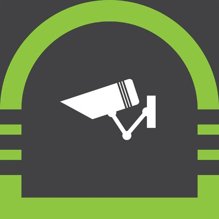 private viewing: security surveillance camera vector icon Illustration