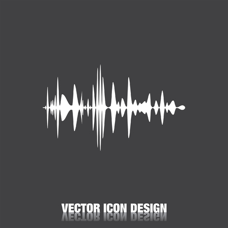 wave sound: audio signal vector icon Illustration