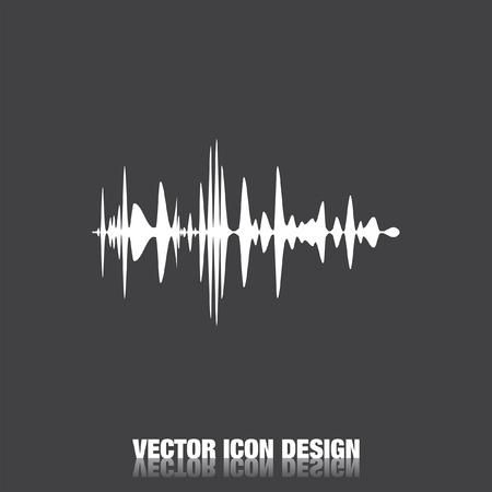 sonido: icono de vector de señal de audio