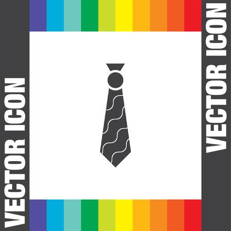 formal clothing: tie vector icon