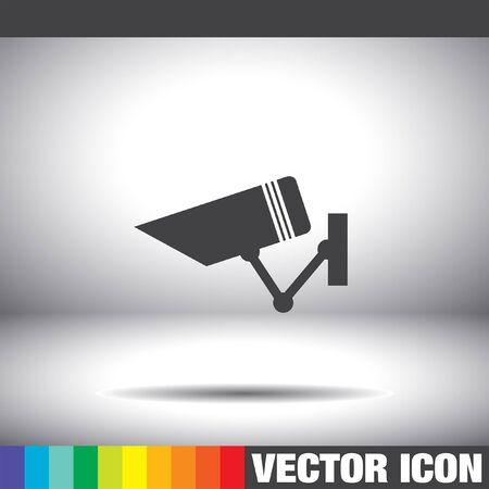 cam�ra surveillance: security surveillance camera vector icon Illustration