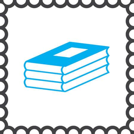 encyclopedias: three books vector icon