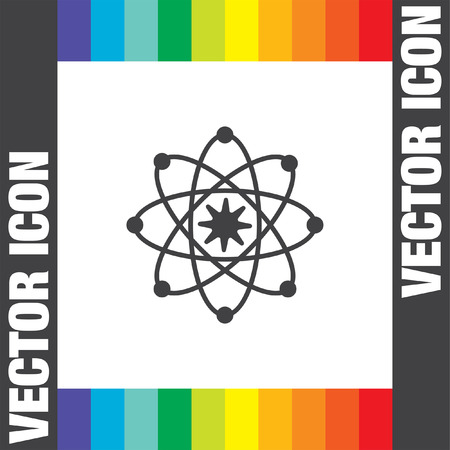 neutron: Atom model vector icon Illustration