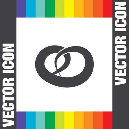 pretzel: pretzel vector icon Illustration
