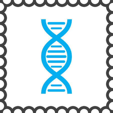 human chromosomes: dna chain vector icon Illustration