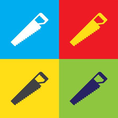 seghetto: hacksaw vector icon Vettoriali