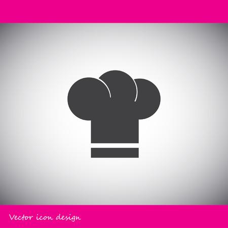 fine cuisine: chef hat vector icon Illustration