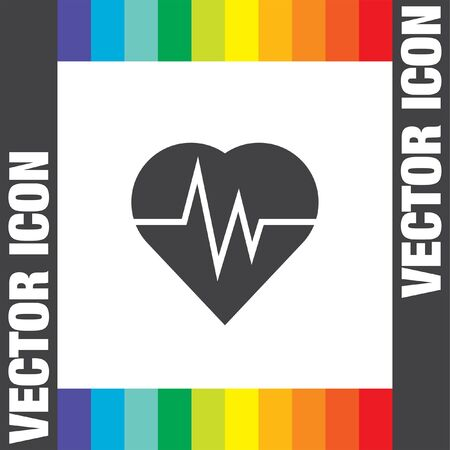 medical heart: heartbeat vector icon