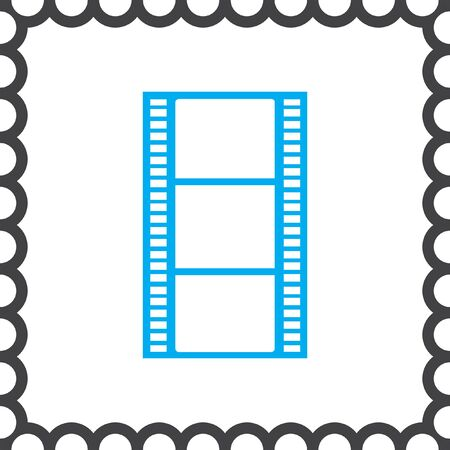film strip: movie film strip vector icon