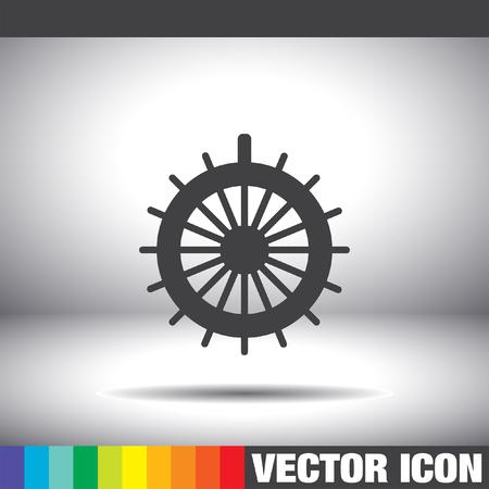 ruder: rudder vector icon Illustration