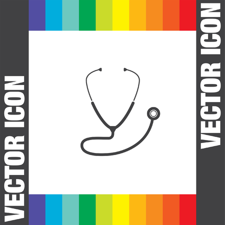 fonendoscopio: icono de vector estetoscopio