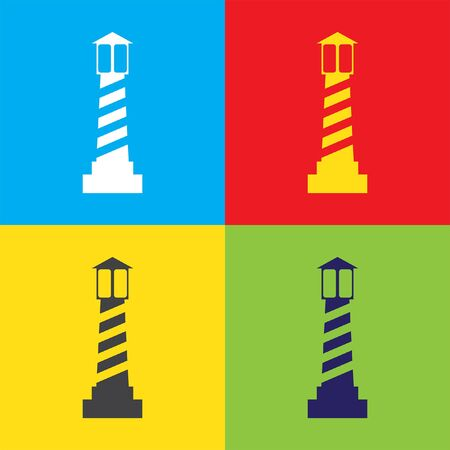 lighthouse beam: lighthouse vector icon Illustration