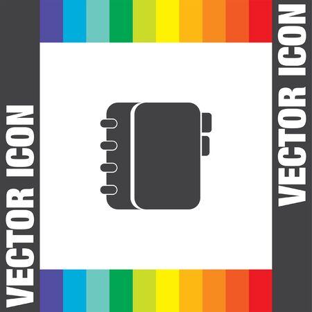 directory book: personal organizer vector icon