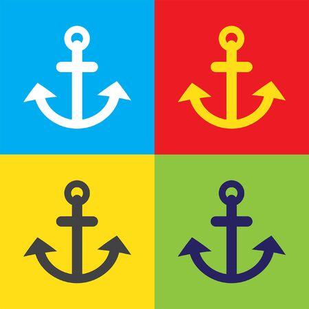 anchor: anchor vector icon Illustration