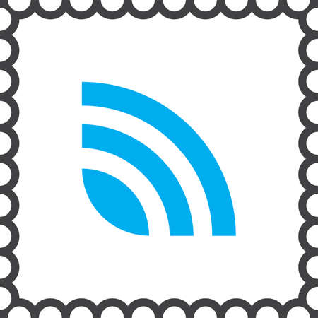 publish: rss news feed vector icon