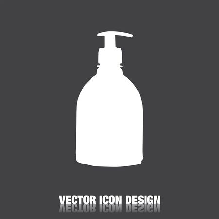 chemical cleaning: household detergent cleaning bottle vector icon Vectores