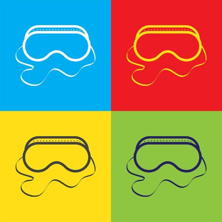 safety glasses: safety work glasses vector icon