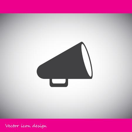 megaphone icon: megaphone vector icon