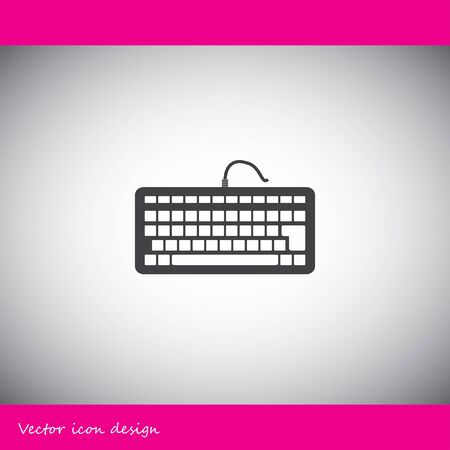 teclado: icono de vector de teclado