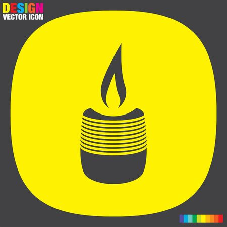 candle wick: candle vector icon Illustration