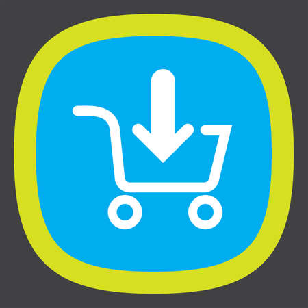 online purchase: add to shopping cart vector icon