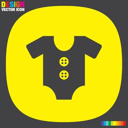baby onesie vector icon Illustration