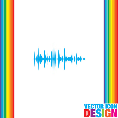 audio: audio signal vector icon Stock Illustratie