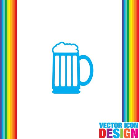 froth: beer vector icon