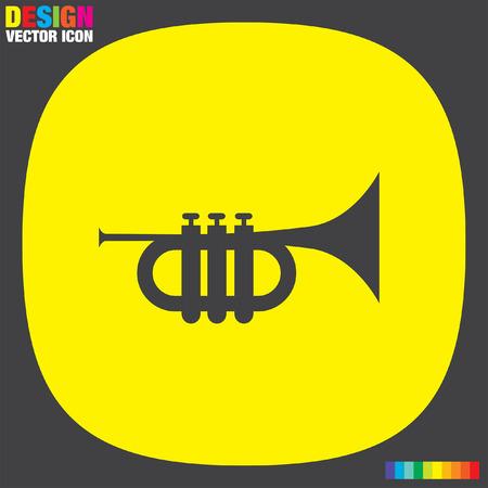 trompeta: Vector icon Trompeta