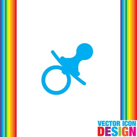 nipple: pacifier nipple vector icon