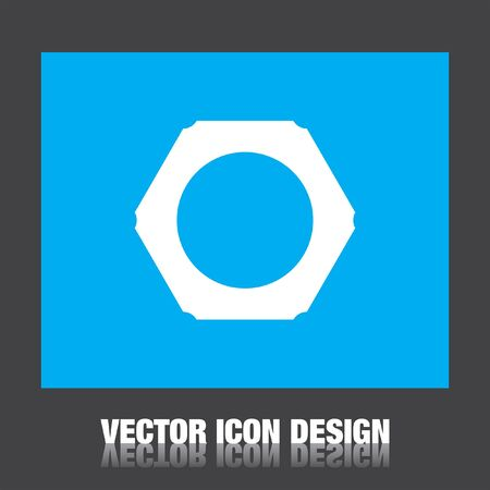 hex: nut vector icon Illustration