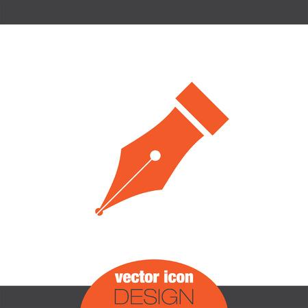 stylo symbole vecteur icône
