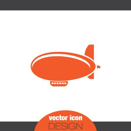 zeppelin: airship zeppelin vector icon Illustration