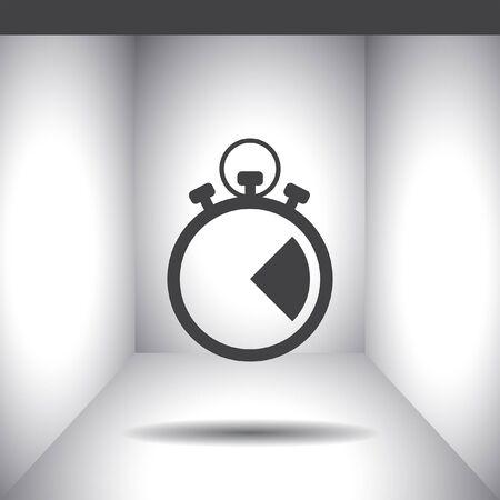 stop icon: stopwatch vector icon Illustration