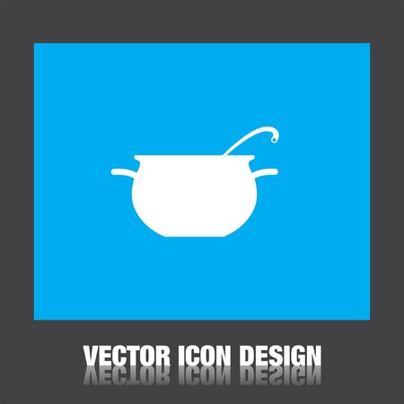 cooking pot vector icon