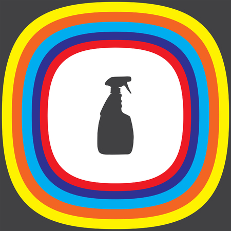 chemical cleaning: household cleaning bottle vector