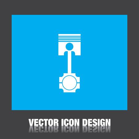 piston vecteur icône