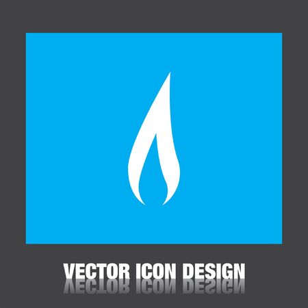 llamas de fuego: icono del vector de la llama Vectores