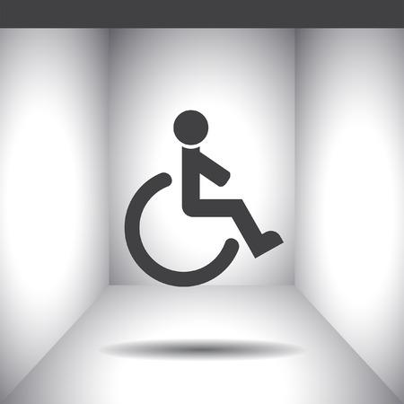 accessible: wheelchair vector icon Illustration