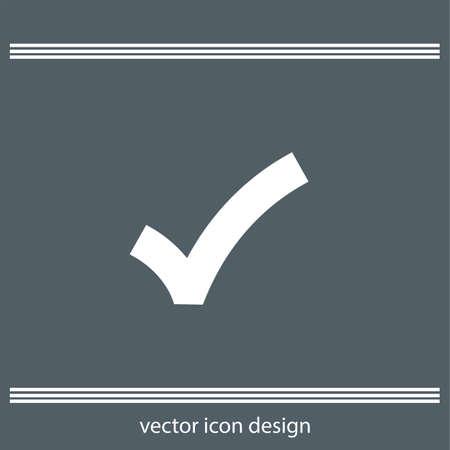 right choice: ok sign checkmark icon Illustration