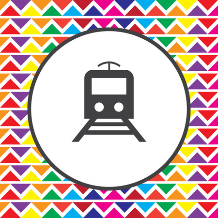 the subway: subway metro icon Illustration