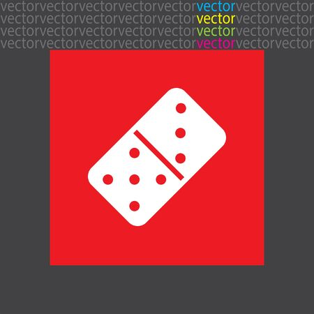 dominoes: dominoes icon Illustration