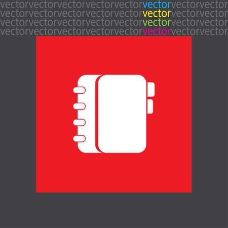directory book: personal organizer icon
